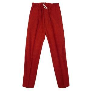 送料無料 むら染め無地 義若の股引き型ズボン (渋赤 エンジ)特大サイズ(LL) 男女兼用 義若オリジナル matsuriya-sonami
