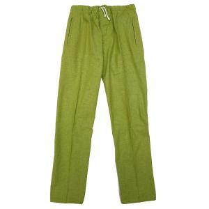 送料無料 むら染め無地 義若の股引き型ズボン (抹茶グリーン) 男女兼用 義若オリジナル matsuriya-sonami