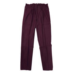 送料無料 むら染め無地 義若の股引き型ズボン (ボルドー) 男女兼用 義若オリジナル matsuriya-sonami