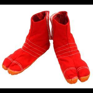お洒落カラー足袋 ショート(レッド・赤)マジックテープ式 祭り足袋|matsuriya-sonami