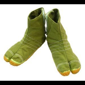 お洒落カラー足袋 ショート(グリーン・抹茶緑)マジックテープ式 祭り足袋|matsuriya-sonami