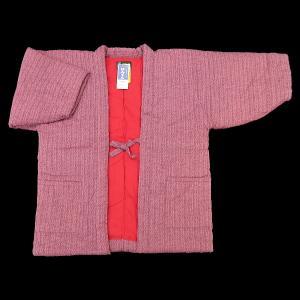 送料無料 本場久留米綿入れ半纏和モダンあられ刺子(ピンク) 女性用フリーサイズ 日本製|matsuriya-sonami