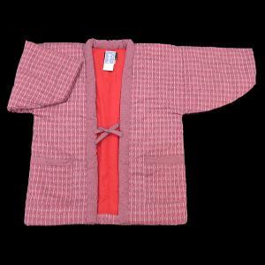 送料無料 本場久留米綿入れ半纏矢絣(ピンク) 女性用フリーサイズ 日本製|matsuriya-sonami