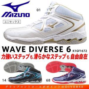 ミズノ フィットネスシューズ ウエーブダイバース6 メンズ/レディース K1GF1672 01:ホワイト|matsuspo