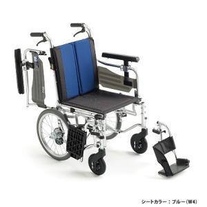 ミキ モジュール多機能 介助型車いす ブルー BAL-6|matsuyakaigo