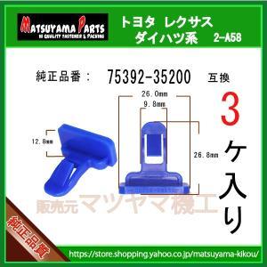 【マッドガードリテーナー 75392-35200】 トヨタ レクサス系 3個|matsuyama-kikou