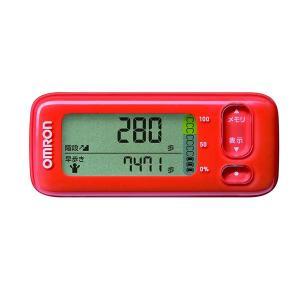 オムロン 活動量計 階段上りや早歩きの歩数を 測定、 目標活動カロリーに対する 達成度もお知らせ H...