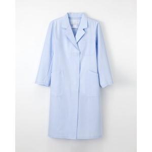 ナガイレーベン 女子シングル診察衣 KEX-5130 サイズL ブルー