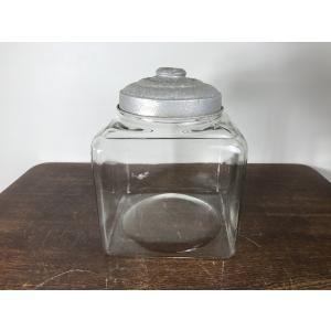 ゆらゆらガラス 四角形 金魚鉢 当時物 昭和レトロ 古い B