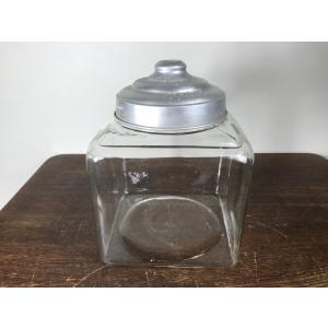 ゆらゆらガラス 四角形 金魚鉢 当時物 昭和レトロ 古い A