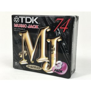 TDK MD  74分 3枚組 ゴールドディスク MUSIC JACK  ミニディスク MD-MJ74X3|matt811
