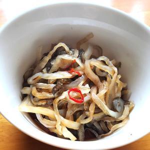 珍味 味付き・フグ皮(冷凍)約100g(ポン酢味)(浜坂産)(ふぐ、河豚)|matubagani