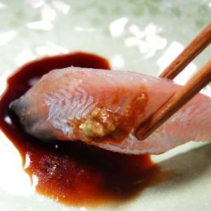 お刺身用 生とろハタハタ フィレ(冷凍)約60g入(山陰浜坂産) 脂がのったハタハタをお刺身用に下処理しています。(はたはた、白ハタ)|matubagani