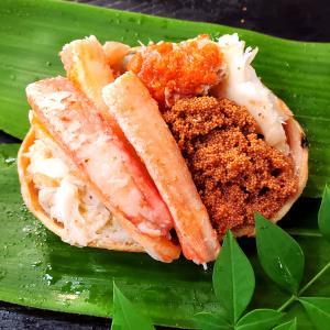 子持ちがに甲羅盛(ボイル・冷凍) 中サイズ 1個 (浜坂産) (添加物未使用) (せこがに、セコガニ、せいこがに、セイコガニ、香箱蟹、こっぺがに)|matubagani