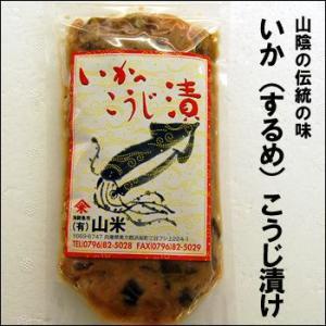 山陰の伝統の味 いか(するめ)こうじ漬け 約350g入(するめ糀漬け、するめ糀漬、するめいか糀漬、、麹漬け、するめ麹漬、鳥取県)|matubagani