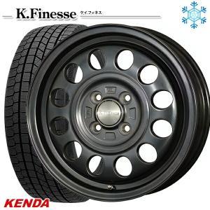 165/60R15インチ ケンダ KENDA KR36 4H100 ケイフィネス D12 スタッドレスタイヤホイール4本セット|mauto