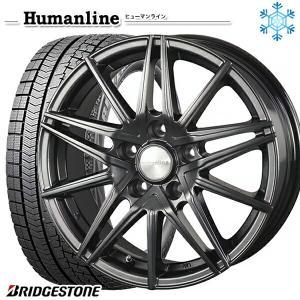 215/65R16インチ ブリヂストン ブリザック VRX 5H114 ヒューマンライン HS01 スタッドレスタイヤホイール4本セット|mauto