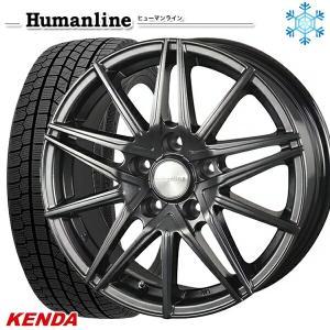 235/50R18インチ ケンダ KENDA KR36 5H114 ヒューマンライン HS01 スタッドレスタイヤホイール4本セット mauto