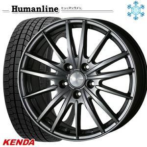 235/50R18インチ ケンダ KENDA KR36 5H114 ヒューマンライン HS06 スタッドレスタイヤホイール4本セット mauto