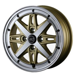 サマータイヤホイールセット 165/50R15インチ 4H100 アルジェノン フェニーチェ RX2 ゴールドポリッシュ ウィンランR330|mauto