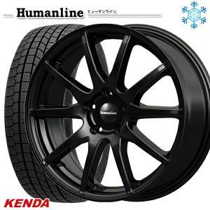 235/50R18インチ ケンダ KENDA KR36 5H114 ヒューマンライン S15 ブラック スタッドレスタイヤホイール4本セット mauto