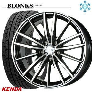 235/50R18インチ ケンダ KENDA KR36 5H114 ブロンクス TB06 スタッドレスタイヤホイール4本セット mauto