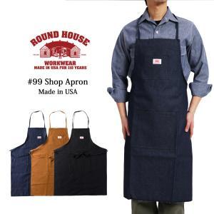 ROUND HOUSE ラウンドハウス エプロン 作業用エプロン ショップエプロン メンズ レディー...