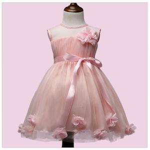 キッズ 子供服  女の子 ドレス フォーマル パーティー 韓国子供服 海外ブランド フラワーポイント...