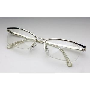 ダテメガネ メンズ 高品質 メタル ナイロール モデル2 新品/シルバー 哀川翔 Gackt タイプ