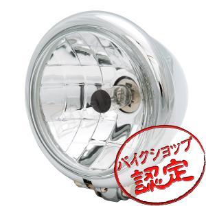 ヘッドライト 4.5インチベーツヘッドライト マルチリフレクター メッキ H4
