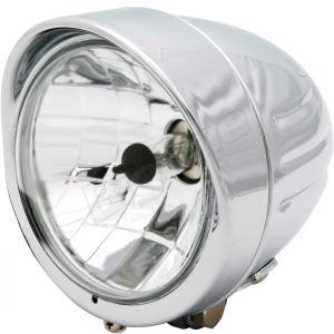 バイク 4.5インチ ベーツ ヘッドライト マルチリフレクター バッファロー メッキ H4|max-advancer|02