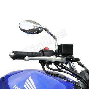 バイク ミラー スムース オーバル タイプ メッキ 左右セット ZRX1200 フュージョン CB400SF バルカン400 モンキー GSX1400 max-advancer 03