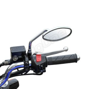 バイク ミラー スムース オーバル タイプ メッキ 左右セット ZRX1200 フュージョン CB400SF バルカン400 モンキー GSX1400 max-advancer 04