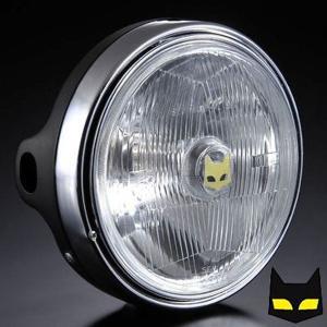 マーシャル ヘッドライト カワサキ用 889 ドライビングランプ フルキット クリアレンズ ブラックケース バイク|max-advancer