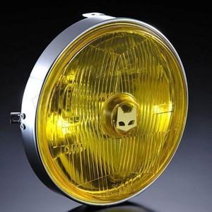 マーシャル ヘッドライト 汎用 889 ドライビングランプ 180φ汎用ライトユニット イエローレンズ バイク|max-advancer