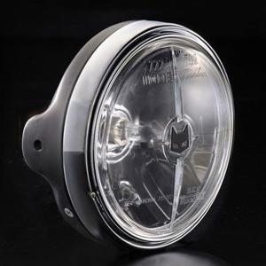 マーシャル ヘッドライト 722・702 汎用 フルキット クリア ブラック CB400SF VTR250 ブロス400 R1-Z RZ350R バリオス2 ゼファー750RS W650 GSX250FX ST250E max-advancer