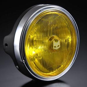 マーシャル ヘッドライト 889 汎用 フルキット イエロー ブラック バイク CB400SF VTR250 ホーネット250 XJR400R RZ250R バリオス2 ZRX400-2 W400 ST250E max-advancer