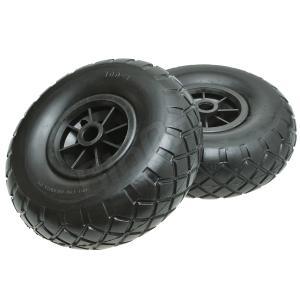 カヤック カヌー カート用 フラットフリー タイヤ ノーパンク 左右 スペア用|max-advancer