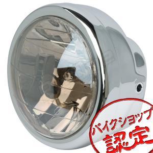 バイク ヘッドライト 6インチ マルチリフレクター ケース付き エイプ ゴリラ モンキー FTR223 FTR250 CL400 CB400SS RZ50 YB-1 TW200 TW225 SR400 SRV250S max-advancer