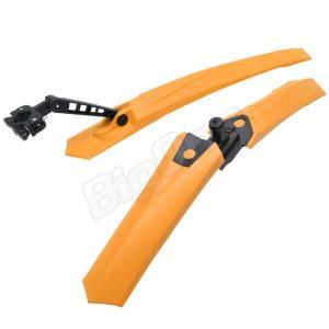 自転車用品 自転車用 マッドガード 前後セット フロントフェンダー リアフェンダー 泥除け オレンジ 脱着式 ロードバイク ピスト マウンテンバイク クロスバイク|max-advancer