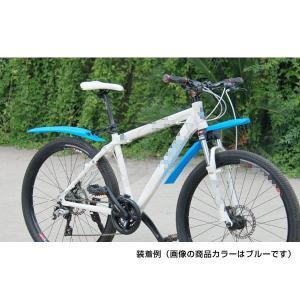 自転車用品 自転車用 マッドガード 前後セット フロントフェンダー リアフェンダー 泥除け オレンジ 脱着式 ロードバイク ピスト マウンテンバイク クロスバイク|max-advancer|02
