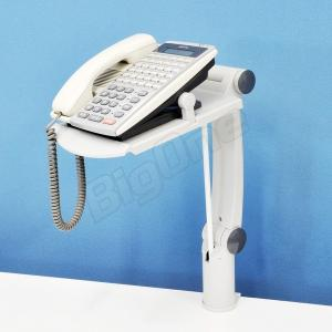電話用 電話台アーム HIGHタイプ 回転機能付きGREY 灰色 グレー 固定電話用スタンド DESK CLAMP FLEX PHONE ARM テレフォンアーム テレフォンスタンド電話台|max-advancer