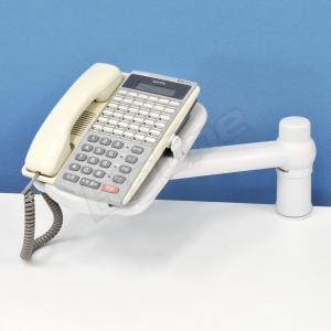 電話用 電話台アーム LOWタイプ 回転機能付きホワイト 白 WHITE 固定電話用スタンド TelePhone Arm テレフォンアーム テレフォンスタンド アームスタンド|max-advancer