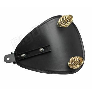 サドル ソロ シート 汎用 薄型 黒 ブラック スプリングマウント キット バイク SR400 バルカン400 ドラッグスター 400 1100 マグナ250 エストレア|max-advancer|04