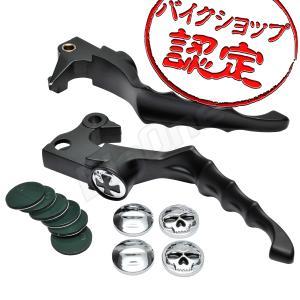 ビレット レバー セット クロスタイプ 黒 ブラック XL883 XL883C XL883L XL883R XL1200C XL1200R XL1200L XR1200 スポーツスター883 バイク ブレーキ クラッチ|max-advancer