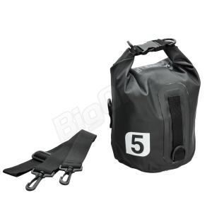 防水バッグ X-EUROPE レイン バッグ 5L BLACK ブラック 黒 EG-6001 高さΦ17cm×高さ32cm ツーリング 通学 通勤 旅行 梅雨 防雨対策 バイク用品|max-advancer