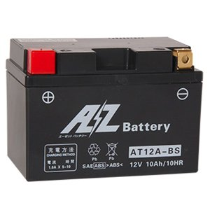 AZ バッテリー AT12A-BS 液入充電済 互換品番 FT12A-BS YT12A-BS 二輪 オートバイ バイク|max-advancer