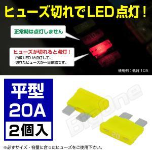 光る ヒューズ 平型 20A ATP LED インジケーター内蔵 切れたら光ってお知らせ max-advancer