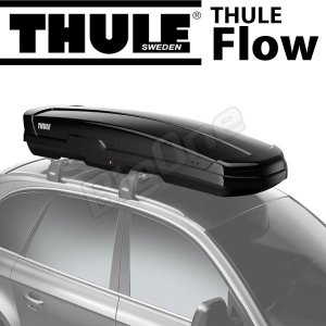 Thule Flow フロー 606 450リットル グロスブラック ルーフボックス ジェットバッグ デュアルサイドオープン パワークリック搭載|max-advancer