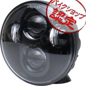 スポーツスター ダイナ ソフテイル V-ROD  LED プロジェクター ヘッドライト 5.75インチ ハーレー ブラック 黒 汎用 ヘッドランプ max-advancer